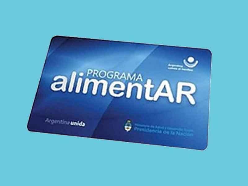 tarjeta alimentar programa